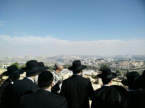 Geopolitics of Holy Sites for ultra-orthodox rabbis - view from Nabi Samwil in the West Bank